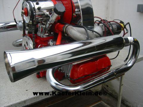 Trike / Buggy Auspuff CHROME, NEU
