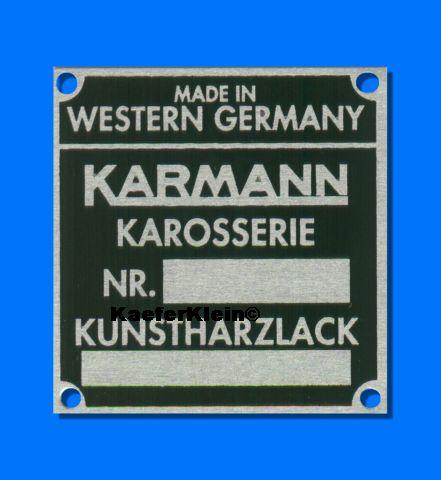 Karmann Karosserie- und Lackschild für den VW Porsche 914, NEU
