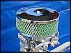 Luftfilter verchromt, Durchmesser ca. 13,5 cm, NEU
