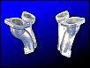 Ansaugrohre jetzt in NEUER / BESSERER Qualität für WEBER Doppelvergaser auf Typ 1 Motoren, Paar, NEU