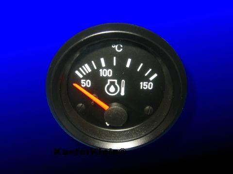 Öltemperaturanzeiger VDO, 12-Volt, NEU