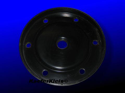 *LAGERBEREINIGUNG* Ölablassdeckel mit Gewinde für Ablaßschraube passend für 24,5 / 30 PS Motor, 102mm LK 6x82mm, orig VW, NOS