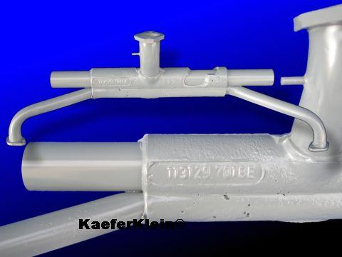 1600er Doppelkanal Ansaugrohr, einfache Vorwärmung, mit Unterdruckanschluss, Teilenummer 113.129.701 AN, bzw. BE, orig. VW-Teil