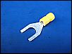 Wärmeschrumpfverbinder 8er Gabelbreite NEU gelb