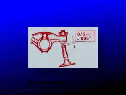 Aufkleber Ventilspiel, für Gebläsekasten 65x45mm, NEU