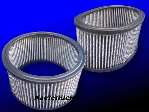 Luftfiltereinsatz passend für VW-Käfer, Trike, Buggy, Chromluftfilter und Weber Doppelvergaser Sportluftfilter, NEU