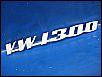 Schriftzug VW-1300, original VAG, Teilenr. 111853687A