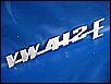 Schriftzug VW-412-E, original VAG