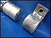 Befestigungsschelle für Entstörkondensator an der 12-Volt Gleichstrom Lichtmaschine
