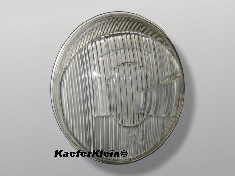 Scheinwerferglas / Streuscheibe für asymetrische, liegende VW Käfer Scheinwerfer, BOSCH