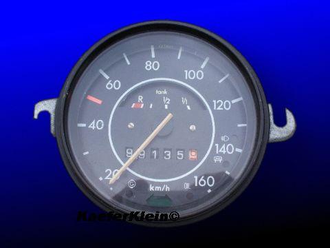 Tacho bis 160 km/h, mit Tankanzeige, schwarzer Rand , Teilenr. 113957011D