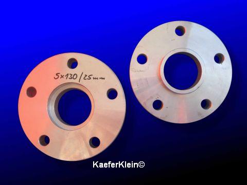 Spurverbreiterungen 25 mm, ALU, PORSCHE Lochkreis 5 x 130, Paar