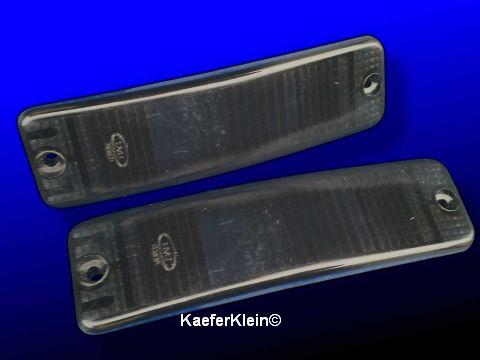Blinkergläser schwarz für Kastenstoßstange, Paar, NEU