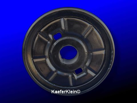 Riemenscheibe Stahl, schwarz pulverbeschichtet, 170 mm, auf Kurbelwelle, orig. VW, made in Germany