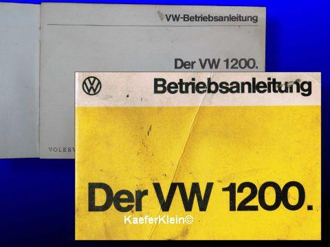 Betriebsanleitung für 1200er VW-Käfer