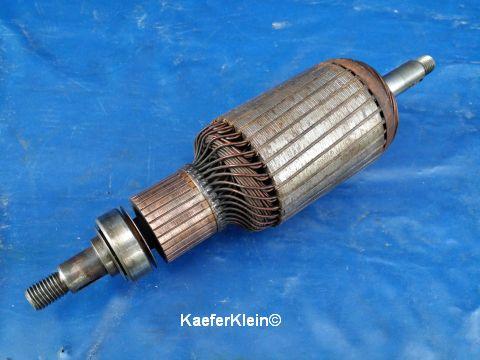 Kollektor für 12 Volt, 30 Amp Gleichstrom Lichtmaschine mit 105 mm Durchmesser, orig. BOSCH, made in Germany