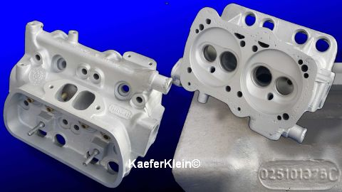 WBX orig. VW Zylinderköpfe, *nackt*, Teilenr. 025101375C, bleifreitauglich, Paar