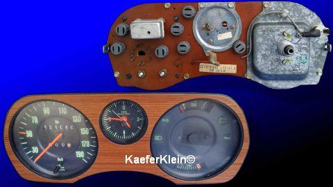 Anzeigetafel incl. Tacho u. Multfunktionsanzeiger, siehe Bild vom alten Audi 100 ???, siehe auch Teilenr. 321919033