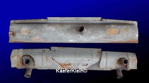 Auspuff Typ3, OHNE Heizbirnen und Vorwärmanschluß, orig. VW, Teilenr. 341251061B / 311251061F