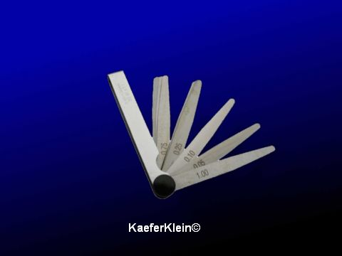 Fühlerlehre zum einstellen des Zündzeitpunktes, oder Elektrodenabstand der Zündkerzen prüfen und natürlich fürs Ventilspiel, NEU