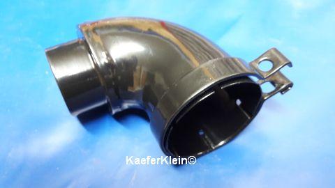 Rohrkrümmer 90 Grad mit ca. 90 mm Schenkellänge u. ca. 40 bzw. 50 mm Durchm. an den Rohrenden, orig. VW