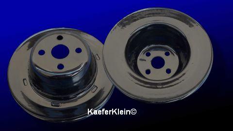 Riemenscheibe Stahl, Topfform, schwarz pulverbeschichtet, 165 mm, auf Kurbelwelle, orig. VW