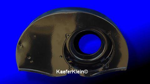 Gebläsekasten schwarz MIT Doghouse OHNE Heizanschlüssen im 30 PS Style, pulverbeschichtet