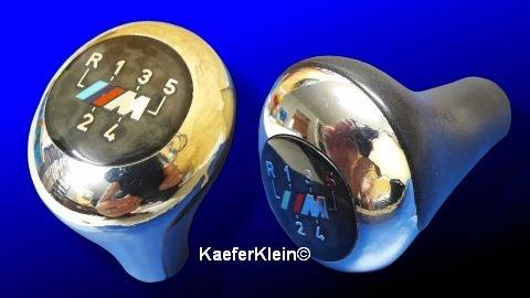 Original BMW M Schaltknauf 5 Gang Leder Chrom glänzend für 3er E46 E36 Z3