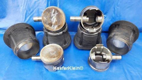 1835er, Kolben/Zylinder, Mahle 92.0 mm, geschmiedet, einzeln, GEBRAUCHT, kein kompletter Satz
