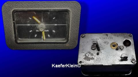 Uhr VDO rechteckig, OPEL, Einbaumaß 57 x 85 mm, Teilenr 9283298