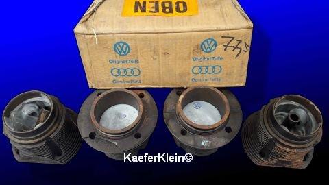 ***RARE*** 1200er original VW Kolben/Zylinder (Satz), 90er Fuß / Kopf, flacher Kolbenboden, Teilenr. 111101311A, NOS