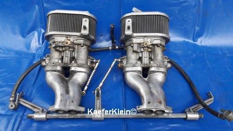 Doppelvergaseranlage, DellOrto, Paar, DRLA 36, made in Italy, komplett, gebraucht
