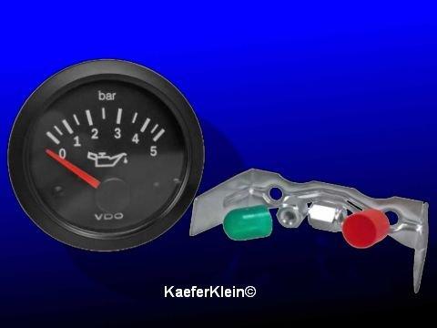 Öldruckmesser / Anzeigeinstrument, orig. VDO Einbaumaß 52 mm, 12-Volt, NEU