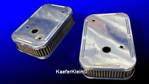 Sportluftfilter für Weber IDF Vergaser, Paar, FLACHE 48 mm Version, GEBRAUCHT