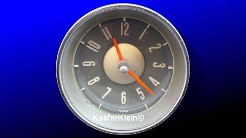 Typ3 VDO Uhr, 6-Volt, orange Zeiger, graues Zifferblatt, Einbaumaß ca. 85 mm, Teilenr. 311919201, orig. VW, made in GERMANY
