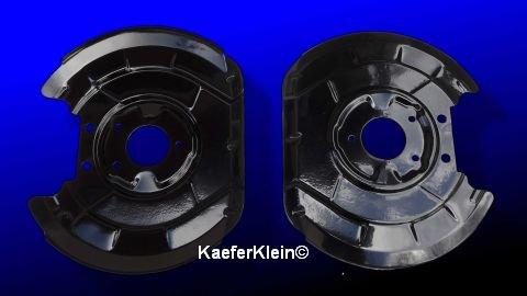 Staubbleche für VW-Käfer 1302 / 1303 mit Scheibenbremse vorne, Paar, rechts/ links, orig, VW, made in Germany