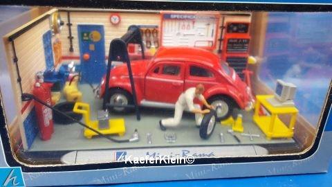 VW Käfer Mini Werkstatt unbespielt, NEU