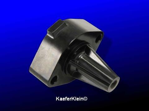 Beninpumpenflansch Bakelit zwischen 24,5 / 30 PS Benzinpumpe und Motorgehäuse, orig. VW Teil, made in Germany Teilenr. 111.127.303, NOS