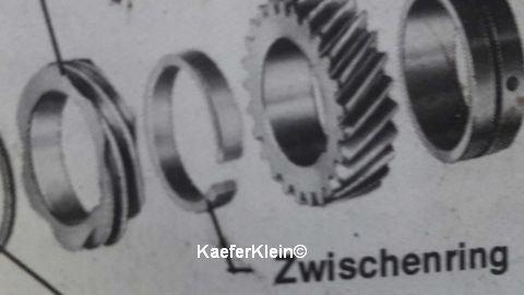 Zwischenring Abstandsring zwischen Verteilerantriebsrad und Nockenwellenantriebsrad auf Kurbelwelle für alle Typ1, 12/13/15/1600er Motoren, orig. VW NEUteil