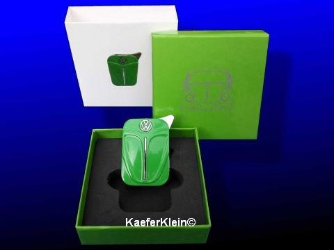 Feuerzeug, grün, sehr wertiges Stück in schöner Geschenkverpackung, NEU