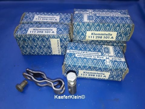 Klemmteile für Betätigungshebel der Wärmetauscherklappen, orig. VW, made in Germany, Teilenr. 111298101A, in orig Verpackung, NOS