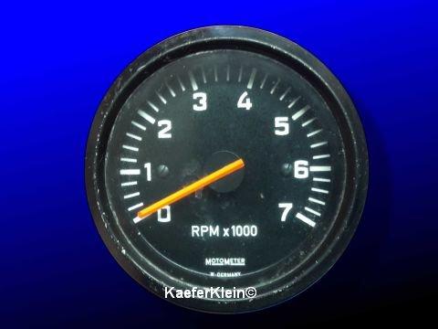 Drehzahlmesser, 60 mm, bis 7000 U/min, MOTOMETER, 12-Volt