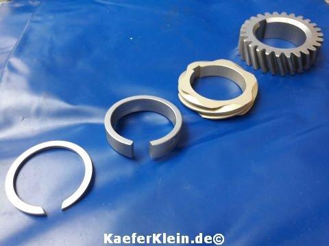 Verteiler. - Nockenwellenantriebsrad, für 24,5 / 30 PS Motor, 4-teiliges Komplettset, orig VW Teile, made in Germany