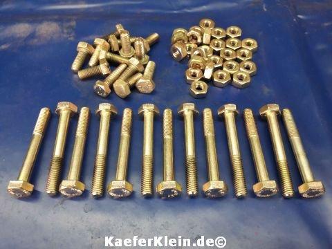Gehäuseschrauben Muttern Konvolut, M8 Schlüsselweite 14 für 24,5 / 30 PS Motoren orig. VW