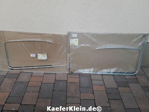 Fensterzierrahmen für hintere Seitenscheiben, orig. VW, made in Germany, für HÖCHSTE ANSPRÜCHE, Paar, NEU