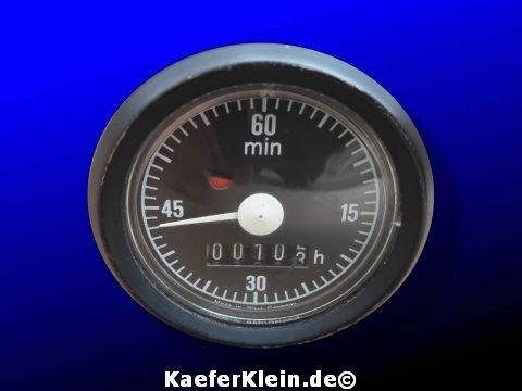 Betriebsstundenzähler, 12-Volt, Einbaumaß = ca. 52 mm Einbaumaß, made in Germany