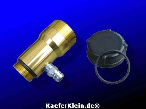 Öleinfüllstutzen Aluminium, goldfarben, NEU