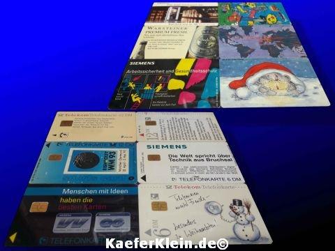 Telefonkarten, 6 Stück, aus DM Zeiten, unbenutzt, NEU