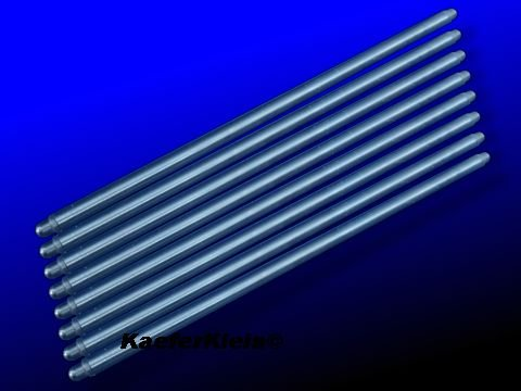 Stößelstangen, Chrom-Moly, Gesamtlänge incl. eingepresster Köpfe = 283 mm, für luftgekühlte VW Boxer Käfer Motoren